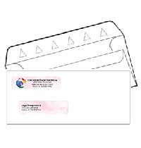 Double Window Self Seal Security Check Envelopes