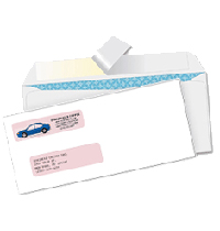Peel And Seal Tinted Double Window Envelopes
